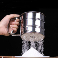 Stainless Steel Mesh Flour Sifter Baking Icing Sugar Shaker Sieve Tool Cup Shape