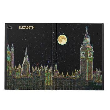 London Parliament Skyline At Night With Fool Moon Powis iPad Air 2 Case