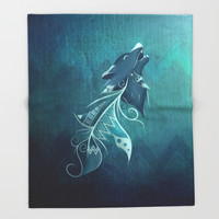 Wolfeather Throw Blanket by LouJah | Society6