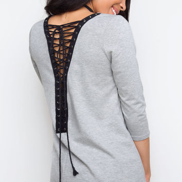 Date Night Lace Up Top