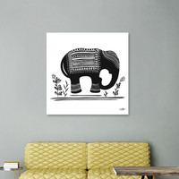 «Lucky Elephant», Numbered Edition Canvas Print by Heather Dutton - From $49 - Curioos