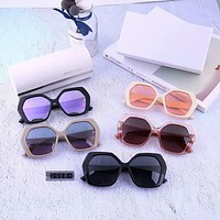 Jimmy Choo Tide brand female polygon large frame color film polarized sunglasses