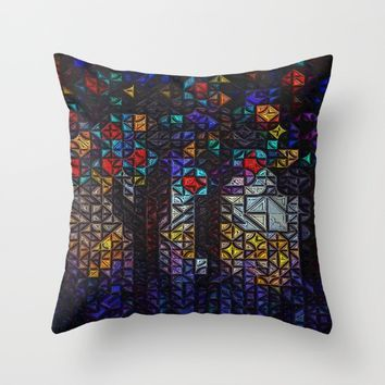 :: Stained :: Throw Pillow by :: GaleStorm Artworks ::