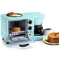 3-in-1 Multifunction Breakfast Deluxe - Aqua College Cooking Appliances Dorm Appliances College Supplies