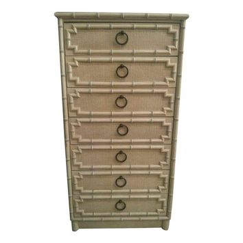 Pre-owned Faux Bamboo Chest by Drexel
