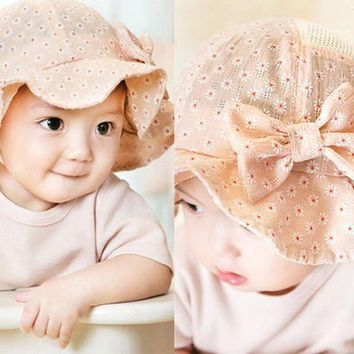 CUPUP9G Cute Baby Hat Toddler Infant Sun Cap Summer Cotton Blends Baby Girl Floral Hats Sun Beach Casual Bucket Baby Hat