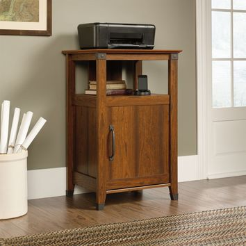 Cherry Finish Printer Stand with Open Shelf - Made in USA