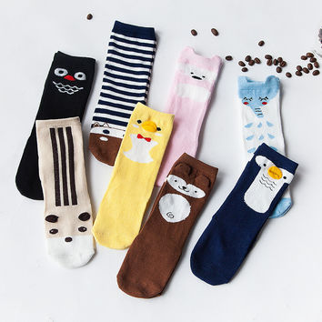 Newborn Toddler Anti-slip Knee High Sock Baby Bebe Duck Penguin Owl Socks Cartoon Anti-slip Leg Warmers Chaussette Stocking