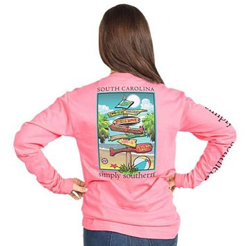 Long Sleeve South Carolina State Tee by Simply Southern