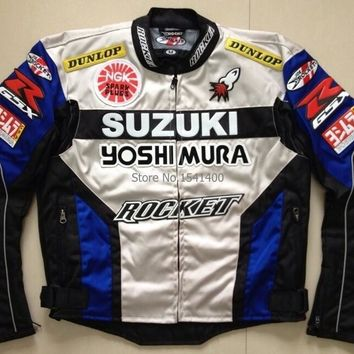 NEW for suzuki Oxford cloth jacket Motocross race motorcycle bicycle motor coat clothing AAA+ red black color