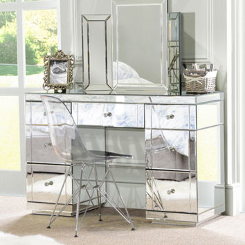 large mirrored furniture dressing console table desk from myfurniture
