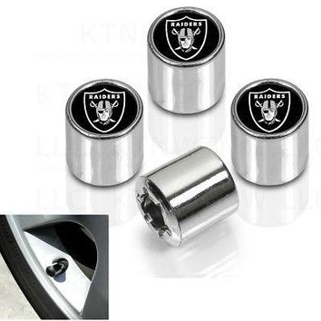 Licensed Official New NFL Oakland Raiders Car Truck Plastic Chrome Finish Tire Valve Stem Caps