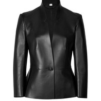 Burberry London - Bonded Leather Tailored Hawarden Jacket