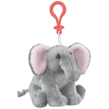 4 Inch Elephant Stuffed Animal Clips for Kids Backpack Toy