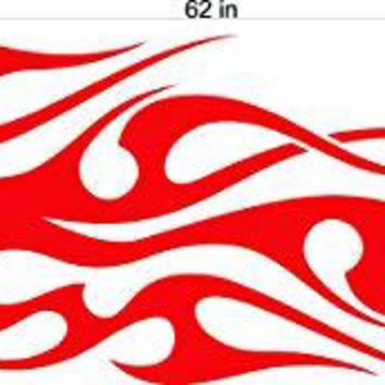 Auto Truck Car Boat Side Flames Tribal Decal Sticker  TF004