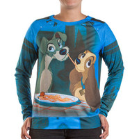 "Walmart: Disney Juniors Sublimation Jersey Pullover ""Lady Tramp Noodle"""