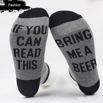 Hot Women Men Letter Printed Socks If You Can Read This Bring Me A Glass Of Wine Unisex Socks Funny Novelty Vintage Retro Socks