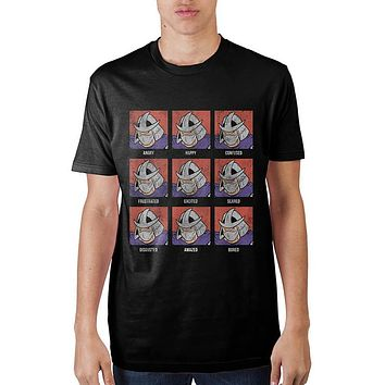 Teenage Mutant Ninja Turtles Shredder Face Black T-Shirt