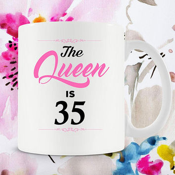 35th Birthday Gift Ideas For Women 35th Birthday Mug Bday Present For Her Birthday Coffee Cup B-Day Gift 35 Years Old Ceramic Mug - BG257