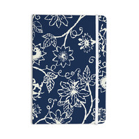 "Laura Nicholson ""Passion Flower"" Navy Floral Everything Notebook"