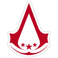'Assassin's Creed III Star Logo' Sticker by Randy Myers
