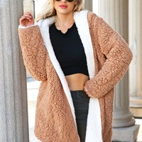 Reversible Hooded Teddy Coat