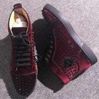 Cl Christian Louboutin Louis Spikes Style #1882 Sneakers Fashion Shoes - Best Deal Online