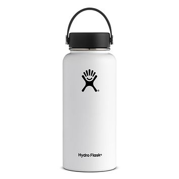 32 oz Wide Mouth Hydro Flask - White