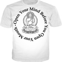 open your mind Buddha shirt