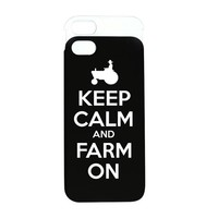 KEEP CALM AND FARM ON IPHONE 5 WALLET CASE