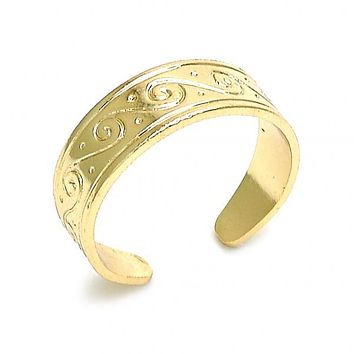 Gold Layered 01.117.0006 Toe Ring, Polished Finish, Golden Tone (One size fits all)