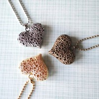 Freebie Friday!  Blooming Heart Pendant Necklaces from JuicyDealz