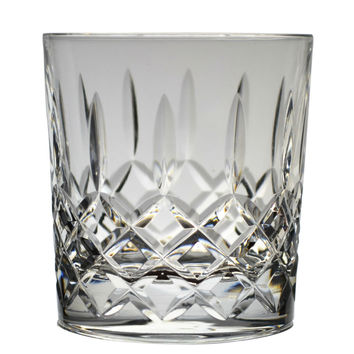 2 Cut Glass Whisky Lowball Tumblers Vintage English