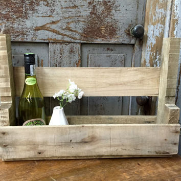 Wine Wall Rack, Rustic Wine Rack, Wooden Wall Rack, Wall Book Rack, House Warming Gift