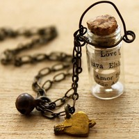 LOVE In A Bottle Necklace - Nostalgems
