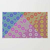 Rosettes patchwork Rug by LoRo  Art & Pictures