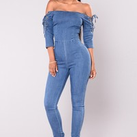 Don't Matter Denim Jumpsuit - Medium
