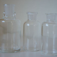 Vintage Apothecary Jars 3 Rare Collectible Drug Store Bottles
