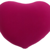 Heart Shaped Microbead Throw Pillow Pink Relaxation Squishy Sofa Couch Bed Decor