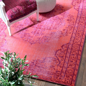 Turkish Overdyed Grove Pink Rug