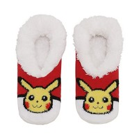 Pokemon Slip-On Pikachu Poke Ball Slippers