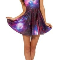 Women's Sleeveless Round Neck Digital Printing Dress