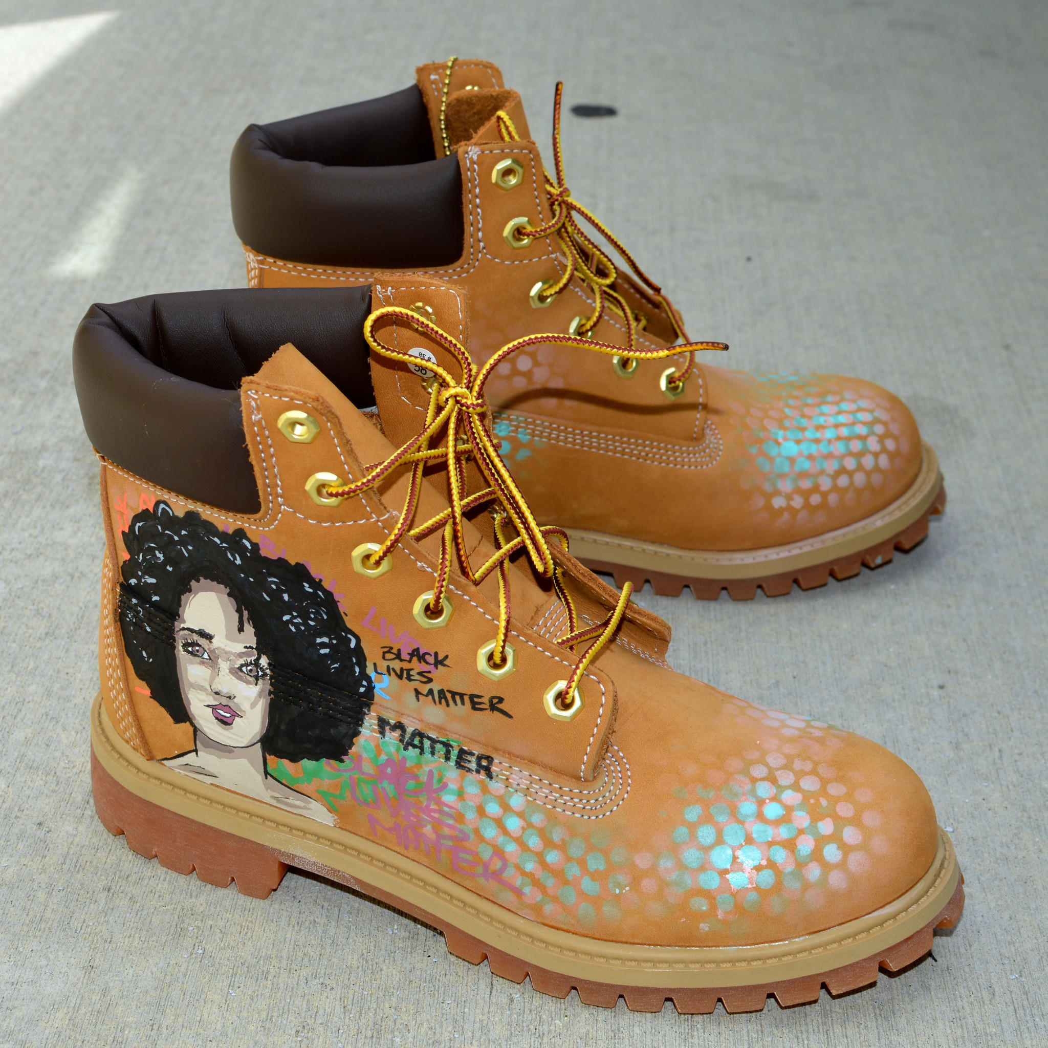 Custom Hand Painted Timberland Boots - from bstreetshoes.com a88a23e3f