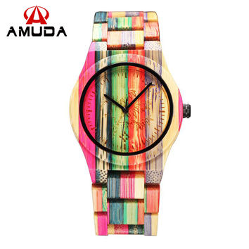 Full Bamboo Watch Women Luxury Brand New Natural Quartz Wooden Bamboo Watch Women Clock Wood Watch With Bamboo Band 2016