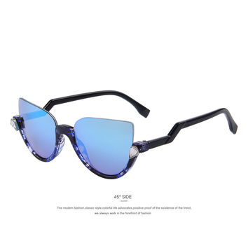 Semi-Rimless Z-Shaped Temple Sunglasses