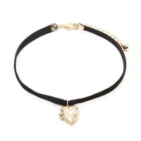 Heart Locket Choker | Forever 21 - 1000203258