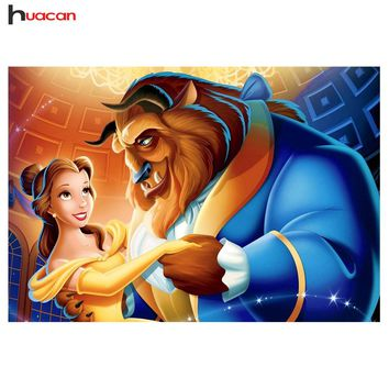 5D Diamond Painting Belle and the Beast Dancing Kit