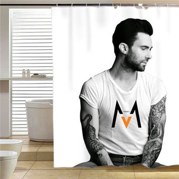 Adam Levine Maroon 5  shower curtain