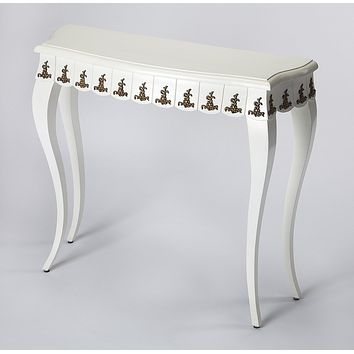 Butler Linor White & Gold Console Table
