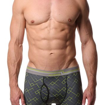 Umbro Neon Green/Charcoal  Diamond Performance Boxer Brief